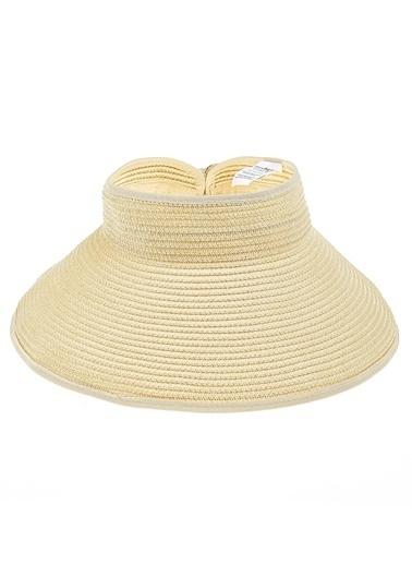 Morhipo Beach Kurdelalı Hasır Şapka Bej